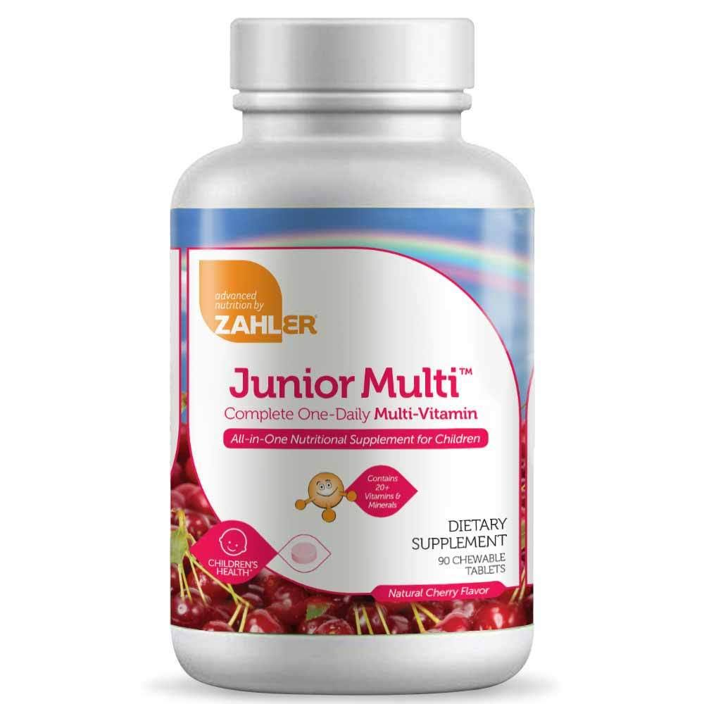 Zahler Junior Multi Complete One-Daily Multi-Vitamin Supplement - Natural Cherry, 90 Chewable Tablets