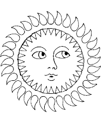 Sun Coloring Page 3650
