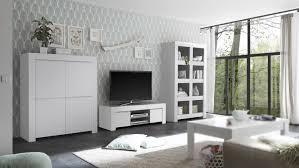wohnwand firenze anbauwand wohnzimmer weiß matt lackiert