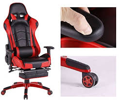 Video Gaming Chair With Footrest by Top Gamer Ergonomic Gaming Chair High Back Swivel Computer Office