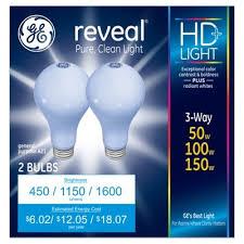 ge reveal 50 100 150 watt 3 way incandescent light bulb target