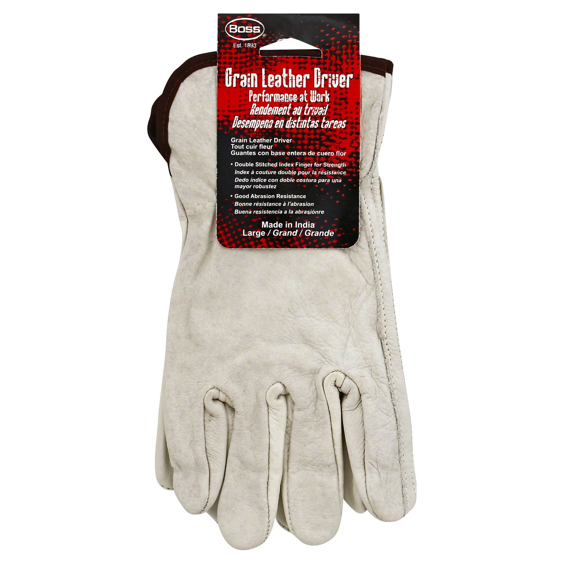 Boss Gloves Men's Grain Leather Gloves - Large