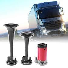 100 Truck Horn Kits 178DB Super Loud 12V Dual Trumpet Air Compressor Car