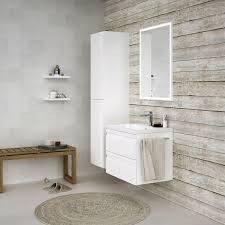 badezimmermöbel set b bikaner 3 teilig inkl waschtisch waschbecken farbe weiß glänzend