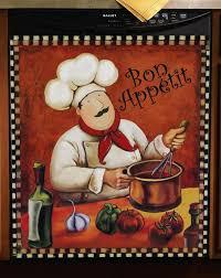 Fat French Chef Kitchen Decor Guy
