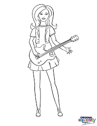 Barbie Rock Star Coloring Page