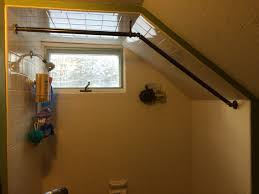 Menards Tension Curtain Rods by New Curtain Rod Built From Parts For Bay Window Curtain Rods