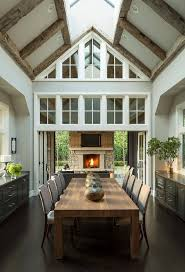 Dining Room Vaulted Ceiling Skylights