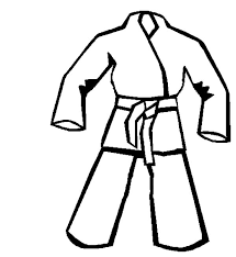 Karate Uniform Coloring Pages