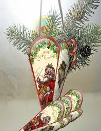 Christmas Tree Ornaments Decorations Victorian Paper Cones