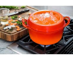 Staub Pumpkin Cocotte by Heritage Round Doufeu Le Creuset