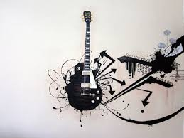 Guitar Wall Art Nippon Paint Makeover Design And Execution