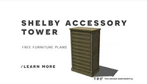 free diy furniture plans to build a piemonte 3 drawer dresser