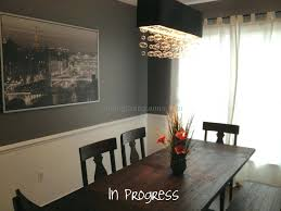 light fixture for rectangular dining table rectangle room