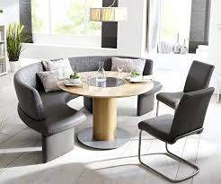 Dining Tables With Bench Awesome Curved For Round Table Inside