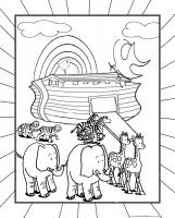 New Free Christian Bible Coloring Pages Noahs Ark Page