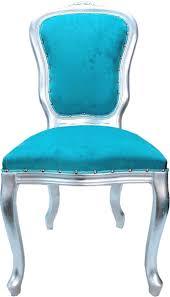 casa padrino luxus barock esszimmer set louis türkis silber 50 x 60 x h 104 cm 6 handgefertigte esszimmerstühle barock esszimmermöbel made in