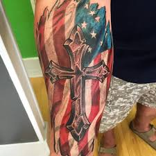 Facebook Pinterest Twitter Google For Americans Vibrant American Flag Tattoos Are A Perfect Way Of