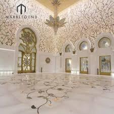 100 Marble Flooring Design Modern Wall Decoration Lobby Waterjet Tiles Lobby Inlay