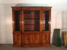 mahogany breakfront cabinets cupboards ebay