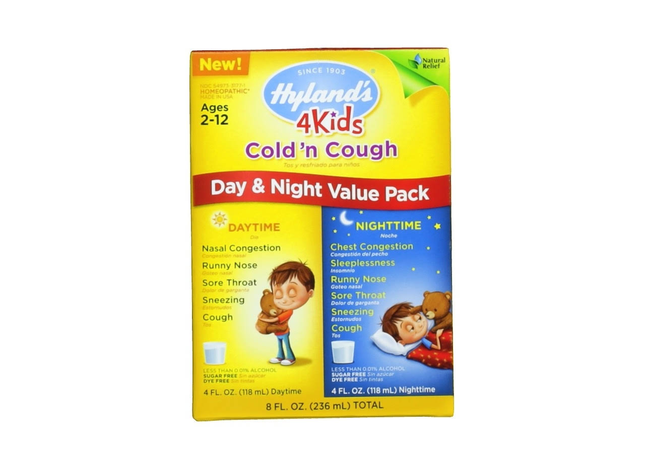 Hyland's 4 Kids Cold And Cough Day And Night Value Pack - 236ml