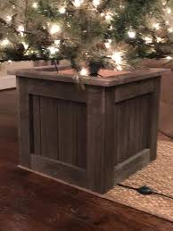 Wooden Christmas Tree Stand Box For Sale