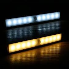 cabinet light led motion sensor lighting lights warm white