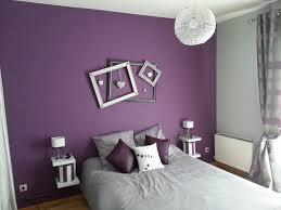 chambre violet et gris