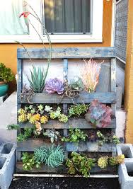 Vertical DIY Succulent Garden Made From Reclaimed Pallet