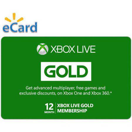 Microsoft Xbox Live 12 months Gold Membership