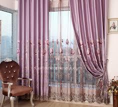 schwer faux silk lila polyester wohnzimmer luxus vorhänge