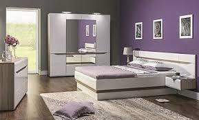 schlafzimmer komplett weiß hochglanz set b schrank bett