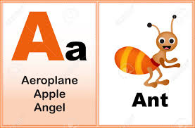 Alphabet Letter A With Clip art And Few Similar Words Starting