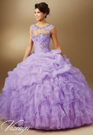 quinceanera dresses by vizcaya jeweled beading on organza