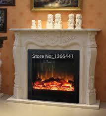 Online Shop Stone Fireplace Mantel Plus Electric Fireplace Insert