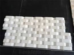 White Water Wave Cultural Stone Tiles Beige Slate Wall Covering Natural