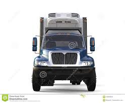 100 Refrigerator For Truck Blue Cargo Front View Stock Illustration