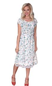 jasmine modest dress in floral print