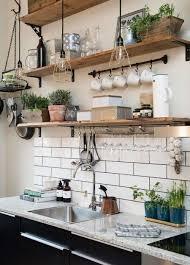 5 Cheapish Updates For A Stylish Kitchen Rustic ShelvesKitchen
