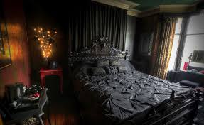 gothic wooden bed frame designs with stunning interior decorating