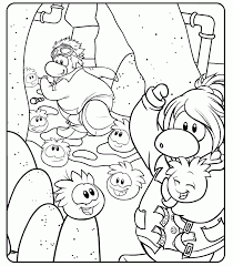 Coloring Cute Page Club Penguin