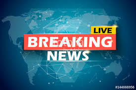 Breaking News Live Vector Infographic World Map Background Illustration