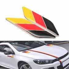 100 Cool Decals For Trucks 1 Pair 3D Metal Germany Flag Stripes Emblem Car Sticker