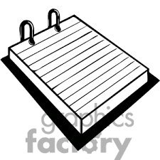 Pad clipart black and white