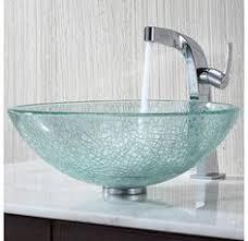 the vigo mediterranean seashell glass vessel bowl features a