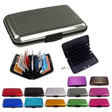 slim business id credit card wallet holder aluminum metal pocket