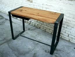 bureau metal et bois bureau industriel metal et bois bureau metal et bois grand etabli