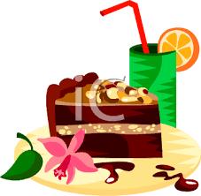 0511 0810 1303 0320 Slice of German Chocolate Cake clipart image