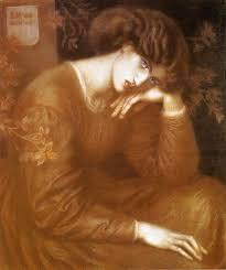 Dante Gabriel Rossetti Reverie 1868 Pre Raphaelites Focused On Realism Concentrating