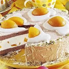 spiegelei torte mit pfirsichen
